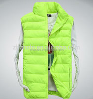 2016 winter wholesale designer padding vests casual wear spark green mens gilet