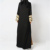 2018 Latest and fashionable full opened kimono Saudi cardigan abaya wholesale
