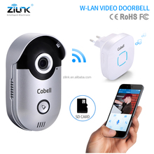 Door bell wifi camera for home security front door installation with SD card for call logs