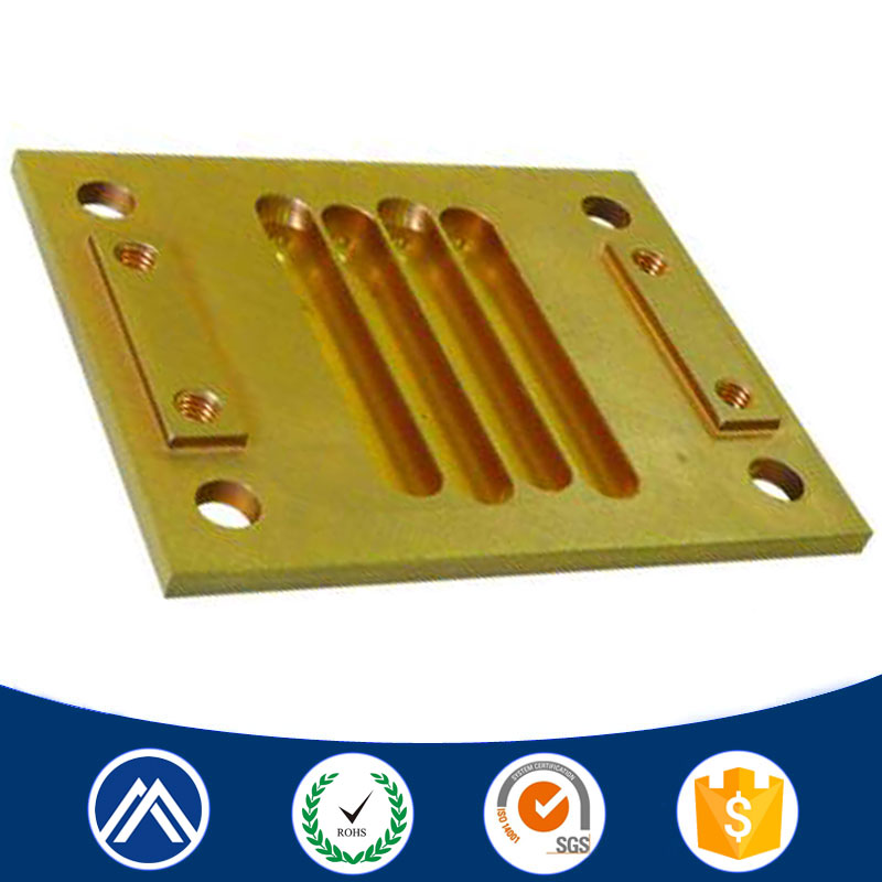 Large cnc machining brass milling part