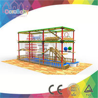 Air walk Adventure Ropes Course playground factory HSZ-JS0354