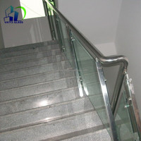 Hot selling side mounted interior glass railing with low price tempered glass railing glass railing hardware