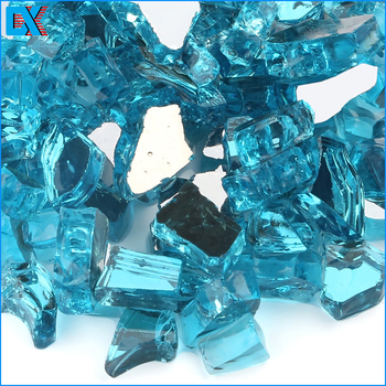 "Colorful 1/4"" 1/2"" Inch Fireglass Wholesale Fire Glass Crystals"