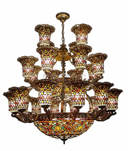 Home decorative tiffany style stained glass mosaic lamps/ chandeliers handmade