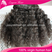 Wholesale 10 12 14 6A afro kinky curly virgin mongolian hair