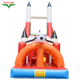 Hot sale crawl and climbing inflatable castle ,rocket modeling inflatable slide , inflatable bouncy castle