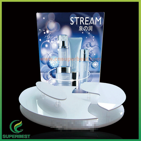 Customized Clear Acrylic Counter acrylic makeup cosmetic display stand