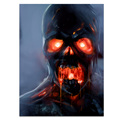 1 Panel Red Eye Ghost HD Printed Custom Canvas Art Scary Skull-Printed Wall Picture Wholesale Drop-shipping/SJMT1884