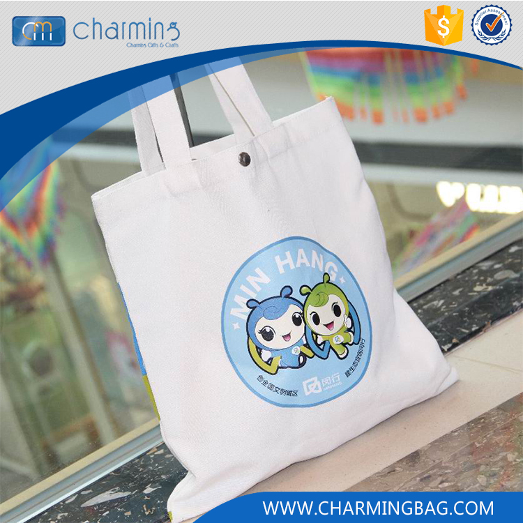 High Quality Customized Logo Recyclable Eco Cotton Bag, Wholesale Handled Canvas Cotton Bag