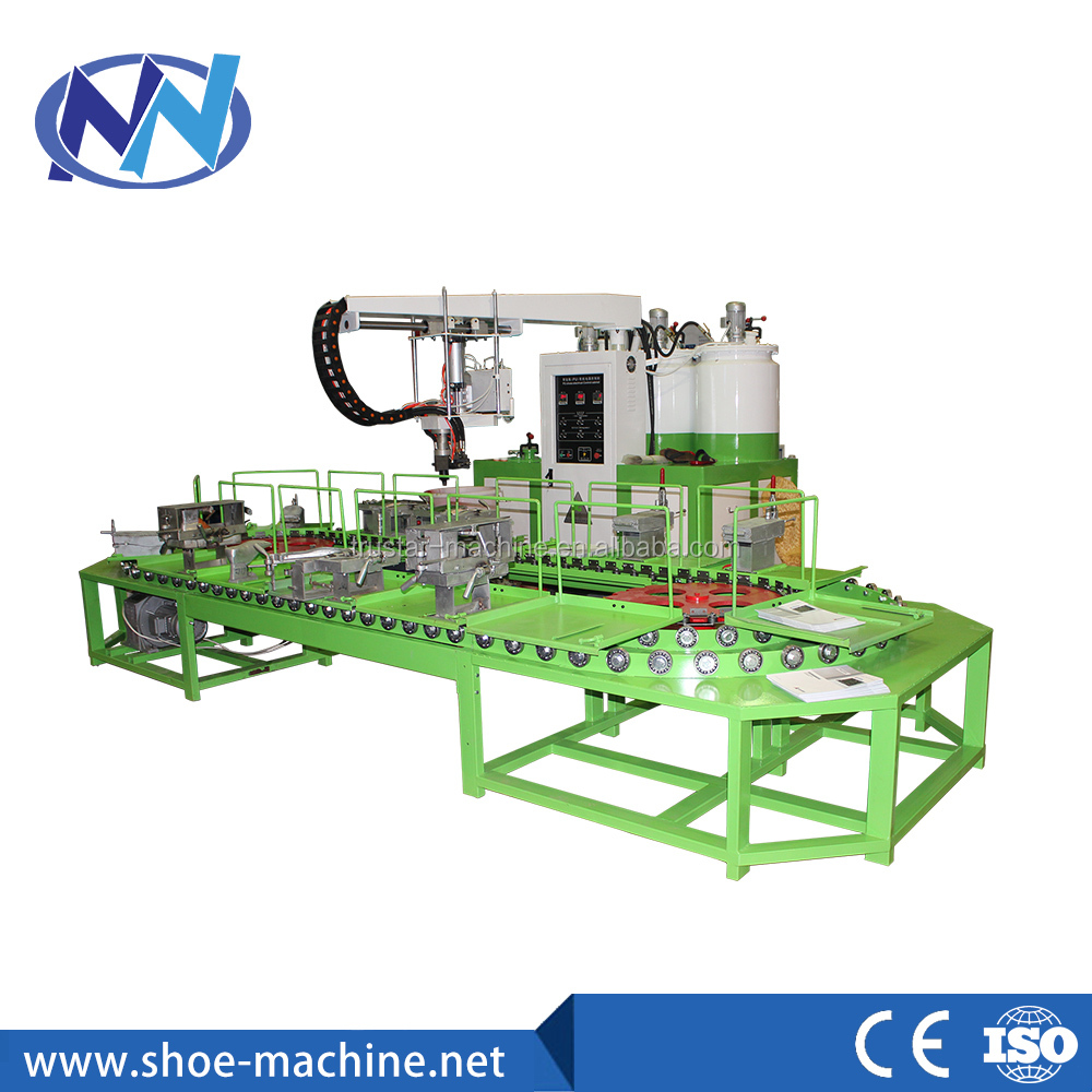 JG -801 PU Shoe Sole Making Machine, pu injection shoe machine