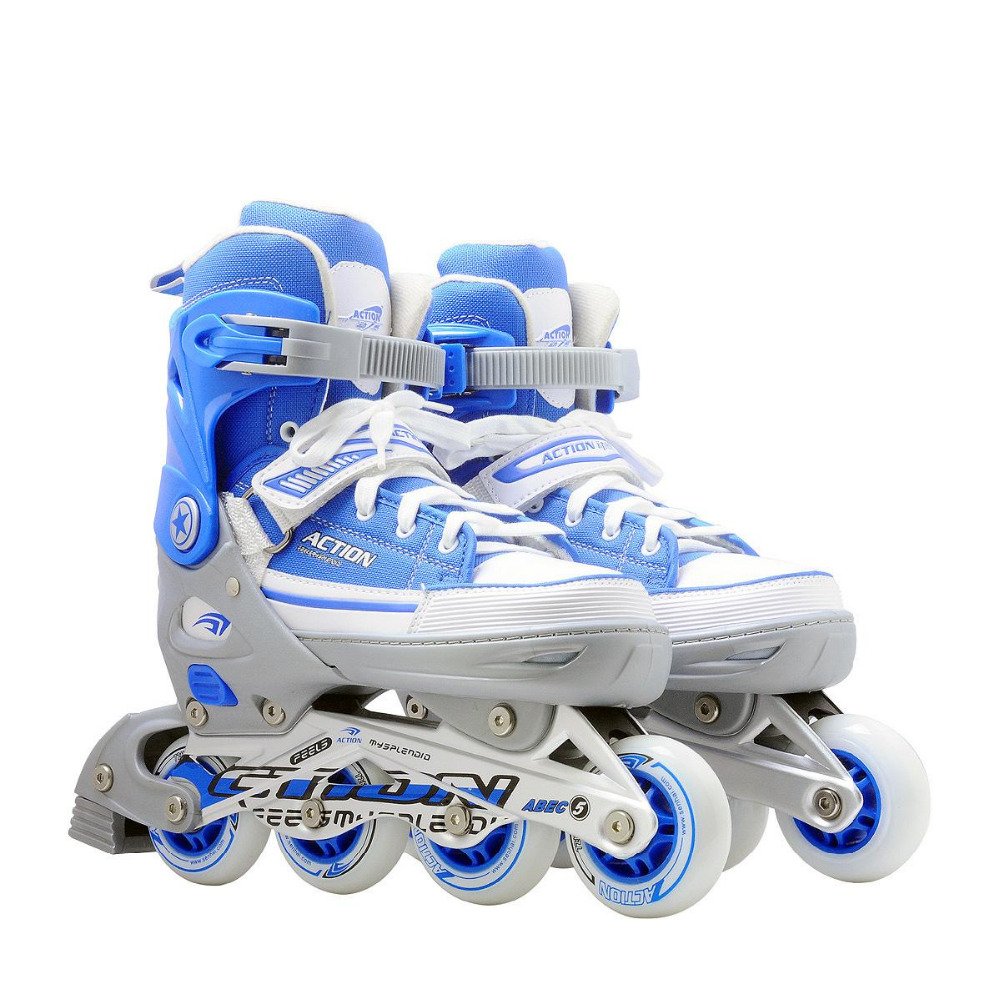 ACTION brand Roller Skate PW-126B-13 Blue Roller Skate Shoes Outdoor Sports Flashing Roller Competitive Price with Good Quality