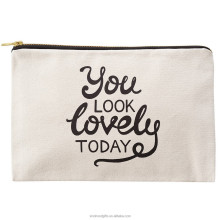 China Factory Wholesale Fashion Canvas Zipper Pouch For Cosmetics