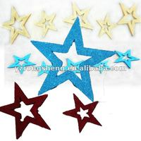 glitter big foam star store Christmas hinging decorations