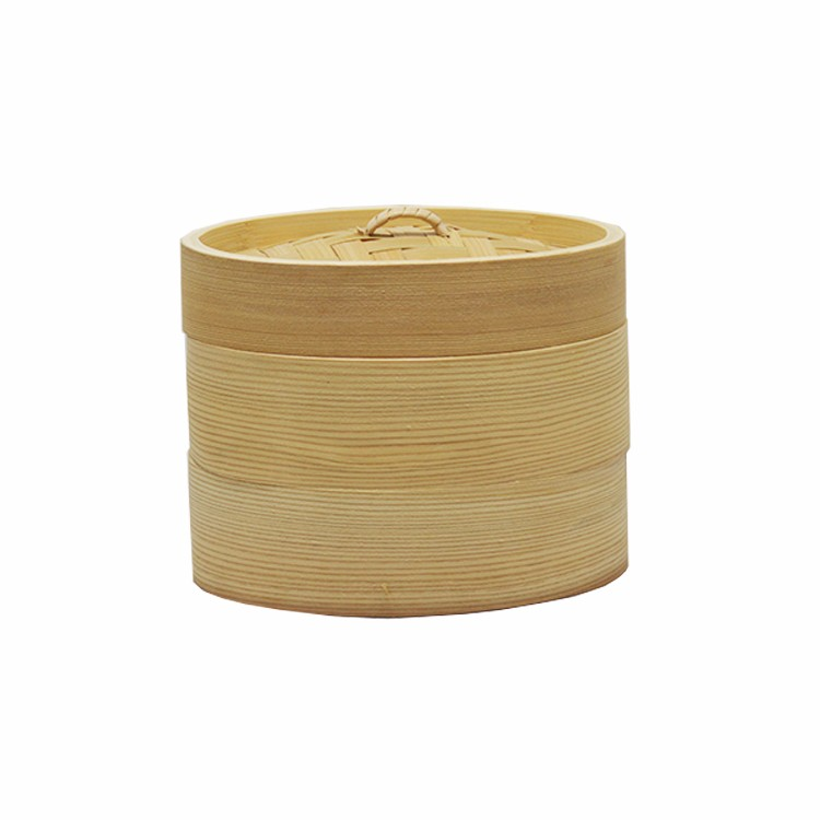 Domestic cookware round electric bamboo food steamer