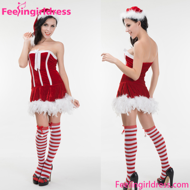 Hot Sale Full Suit Mini Skirt Women Party Wear Cosplay Christmas Costume