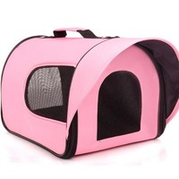 Pink color large capacity heavy duty pet carrier bag