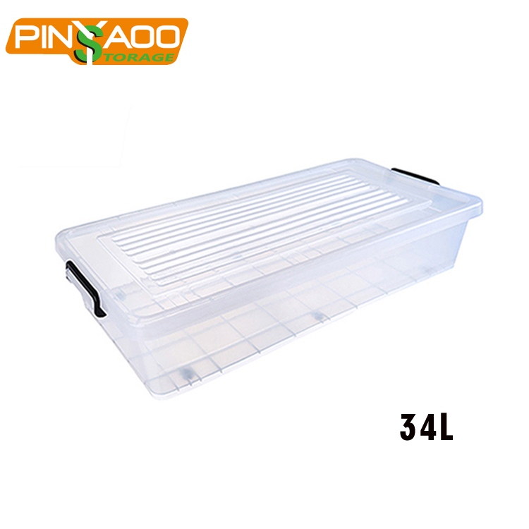 OEM ODM Customized Household 34L Flat Under Bed Storage Box <strong>Plastic</strong>