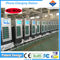 Remote manage rapid charge mobile phone charging station with digital lockers APC-06B