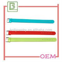 leather slide letter bracelet