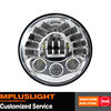 Automatic 7 Inch Round Automobile Chrome