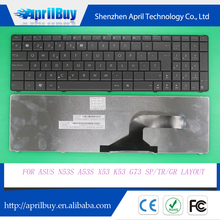 Replacement laptop keyboard for ASUS N53S A53S X53 K53 G73 SP/TR/GR layout keyboard