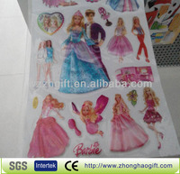 Cute girls puffy dresses for kids stickers