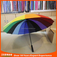 cheap promotion logo color changing umbrella straight rod umbrella