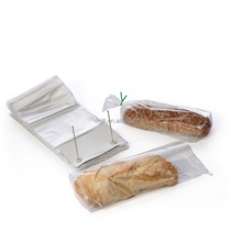 lape transparent food grade poly plastic bottom gusset bread packaging wicket bag