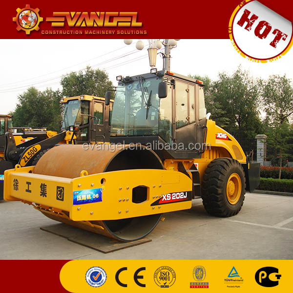 used construction for sale XCMG Single Road Roller XS202J soil compaction equipment cheap price