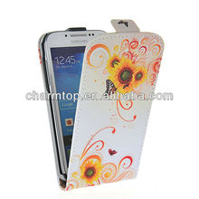Fashion Design Flip Leather Cover For Samsung i9500 Galaxy S4