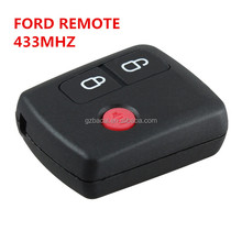 433mhz car key Ford 3 button key cases with chip for Ford smart car keys from China