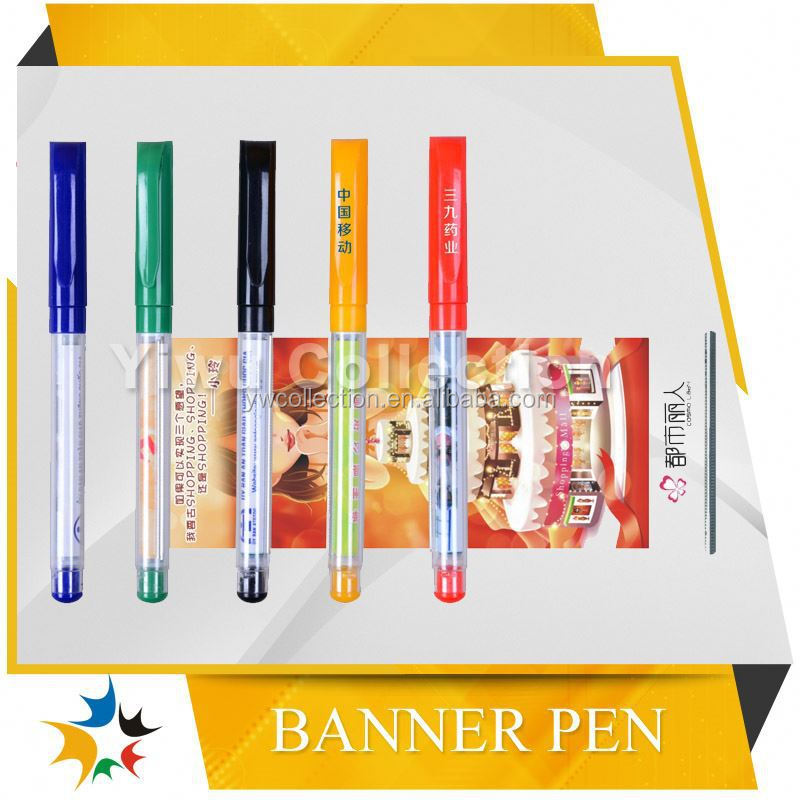 retractable banner pen,promotional pen with logo,mini ad banner lanyard ball pen
