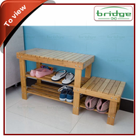 Bamboo shoe rack display rack wooden shoe rack shoe storage bench