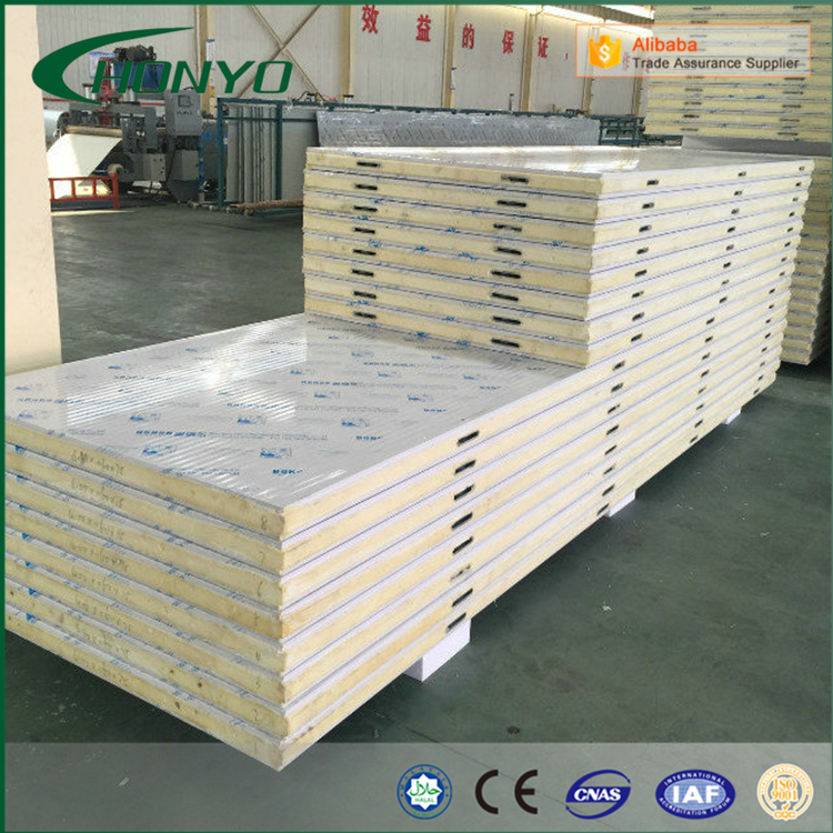 Professional Steel Sheet Fireproof Fire Resistant Modular Cold Room PU Polyurethane Sandwich Panels With CamLock