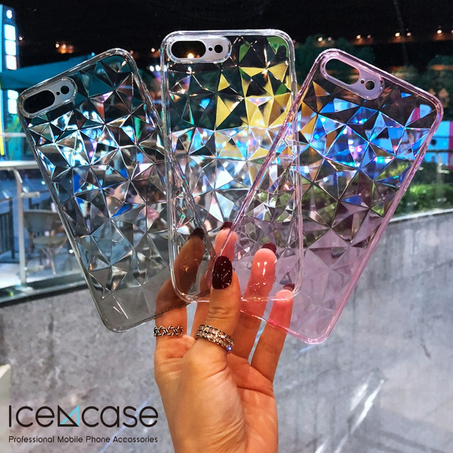 Fashion Diamond Texture <strong>Case</strong> For iPhoneX / XS / XR / XS MAX /OTHER Soft Phone Cover. Luxury Transparent <strong>Case</strong> Ultra thin shell