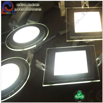 AC90-260v 12w 843lm aluminum alloy+PMMA Glass Lamp Cover LED Square Ceiling Light
