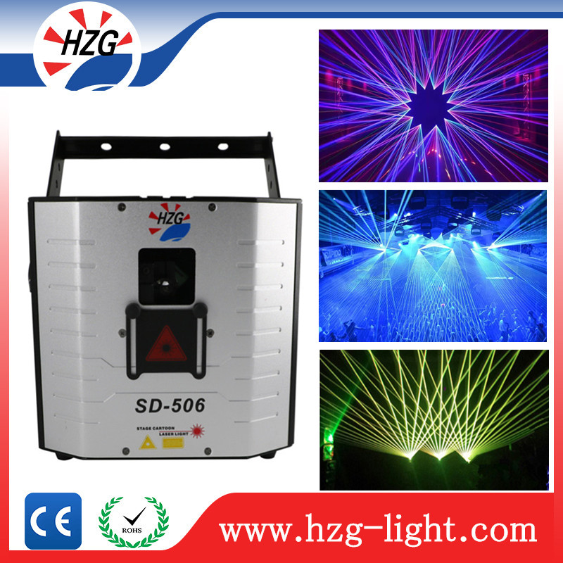 Guangzhou ce rohs led stage lighting Dj Equipment 5Watt RGB Laser Lighting Programmable Laser Projector Christmas Lights