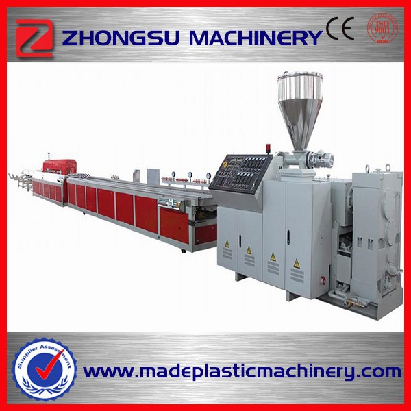 2014 high quality wood plastic composite wpc fence post profile making machine