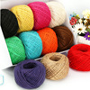 Manufacturer wholesale 1.5-10mm DIY colorful jute yarn from bangladesh jute yarn for knitting