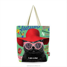 Wholesale Black Souvenir Tote Low Price Canvas tote Bag