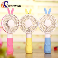 Portable Rabbit Shaped Office Battery Small Hand-held Fan for Personal