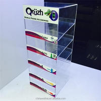 Charger Display 5 Tiers Acrylic Cell Phone Accessories Showcase