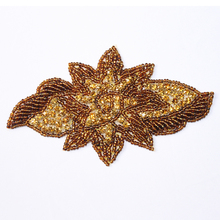 seed bead leaf applique / craft applique work designs for dress