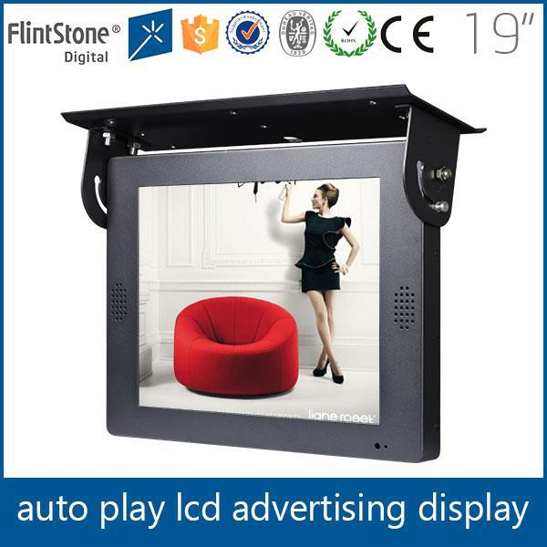 19 inch heavy duty bus digital display lcd monitor advertising screen