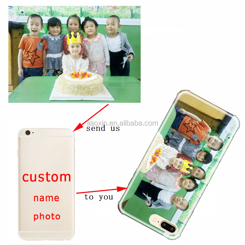 Custom Design DIY Name Picture Silicone TPU Soft Clear Phone Case for iphone 7 6 5s 6s 8 SE 5 plus X