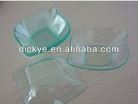 diamond plate plastic/ dish/dishes contain sushi and vegetable and cake/ice cream on sale