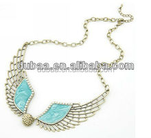 Attractive Hot Angel Wings Love Heart Rhinestone Pendant Choker Necklace
