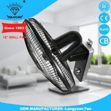 New design tilting angle decorative wall mount fans with high quality