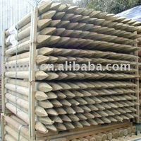 wooden stake for construction use