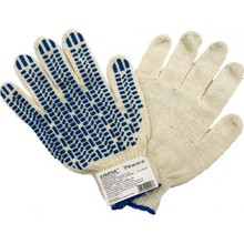 Brand MHR industrial cotton gloves grip dots working gloves
